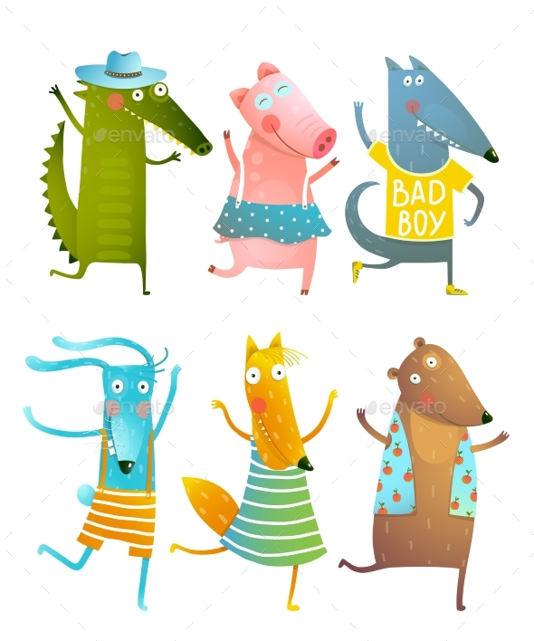 Funny Baby Dancing Animals Collection - Animals Characters