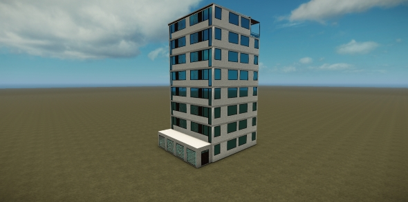 Modern Building 001 - 3DOcean Item for Sale