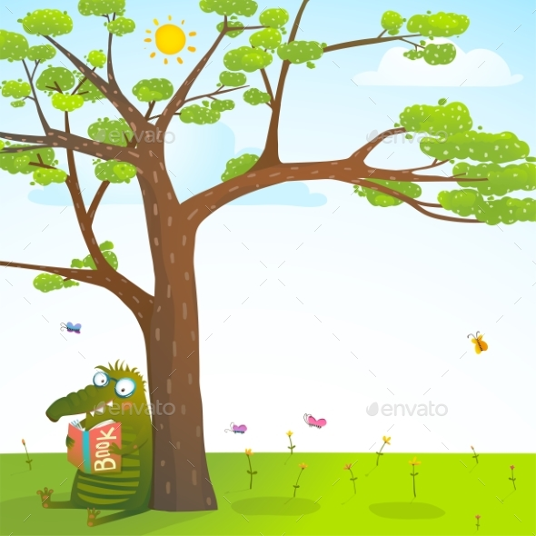 Monster Under the Summer Tree Reading Book - Animals Characters