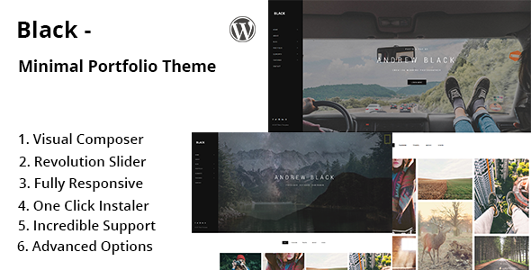 Black – Minimal Portfolio WordPress Theme