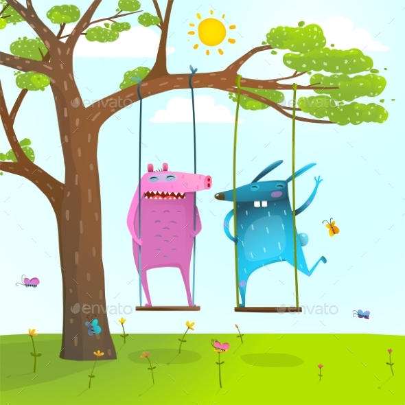 Summer Tree Friends - Miscellaneous Vectors