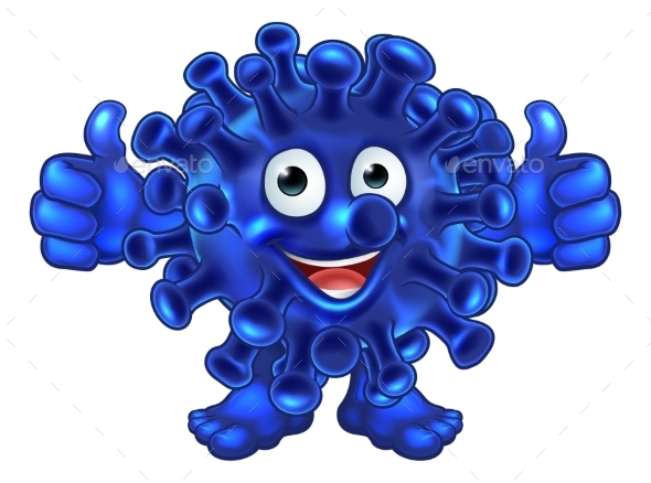 Virus Bacteria Alien or Monster Cartoon Character - Miscellaneous Characters