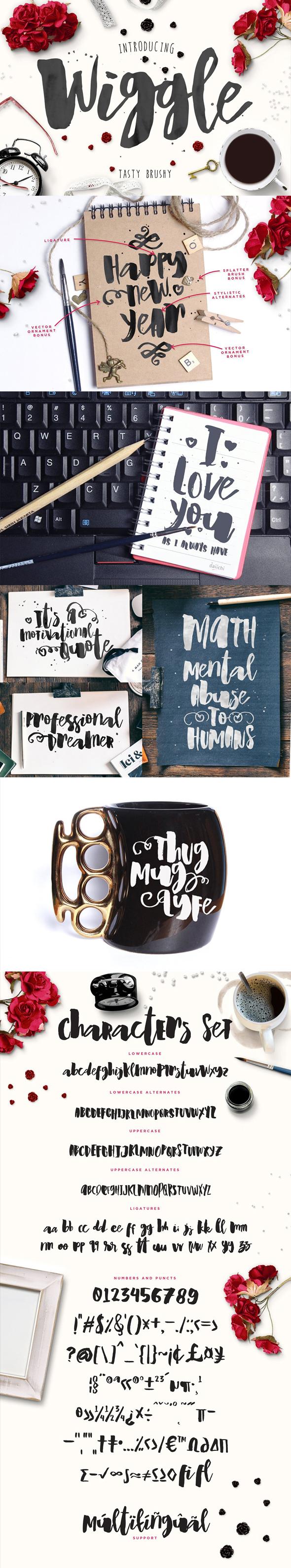 Wiggle Watercolor brush script - Calligraphy Script