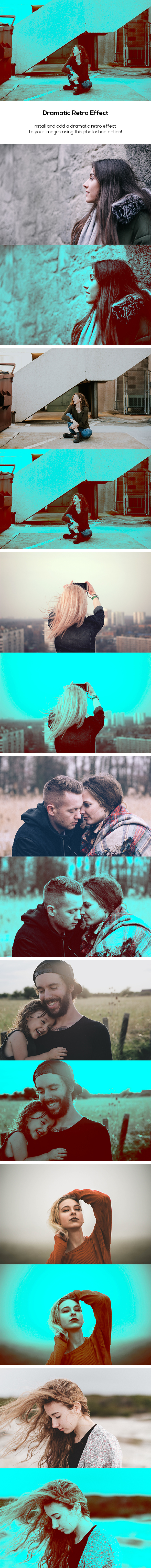 Dramatic Retro Effect - Photo Effects Actions