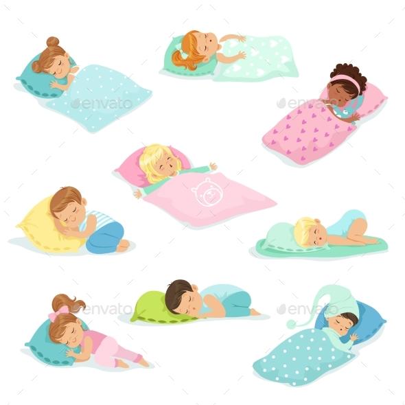 Boys and Girls Sleeping - People Characters
