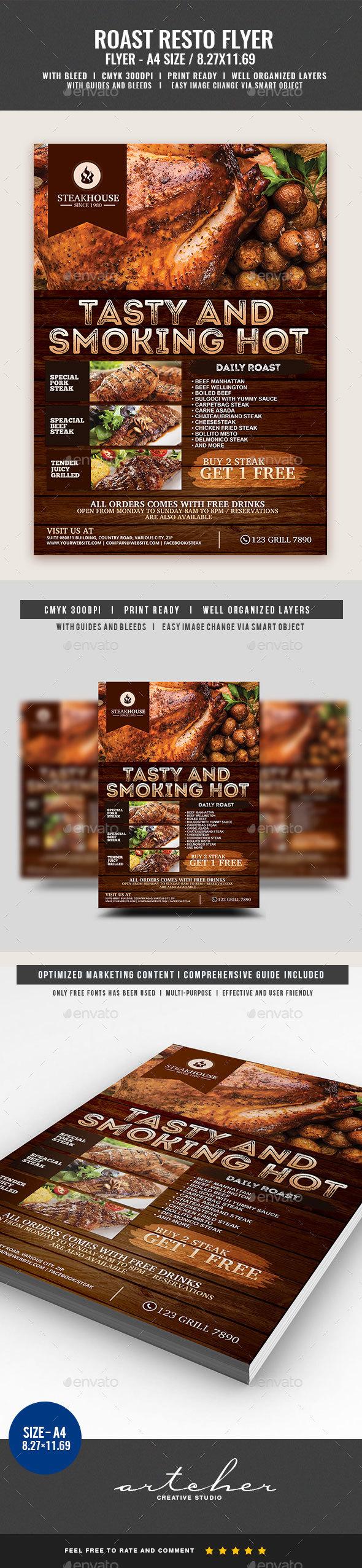 Barbecue Restaurant Flyer - Restaurant Flyers