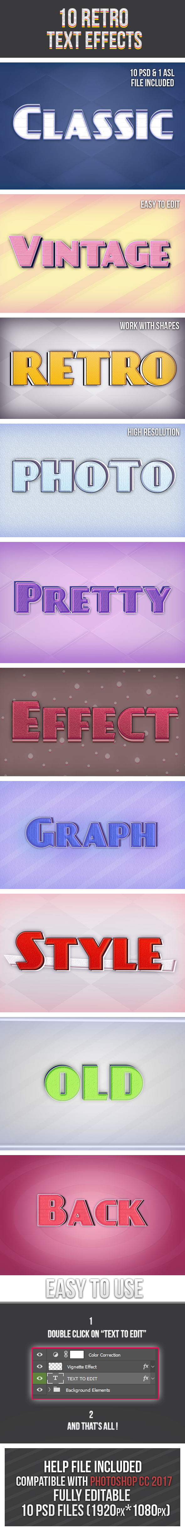 Retro Text Effects - Text Effects Styles