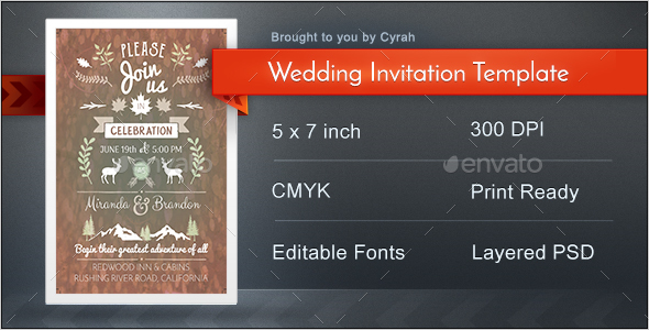 Creative Wedding Invitation Template - Weddings Cards & Invites