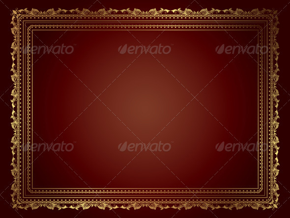 Gold Frame - Borders Decorative