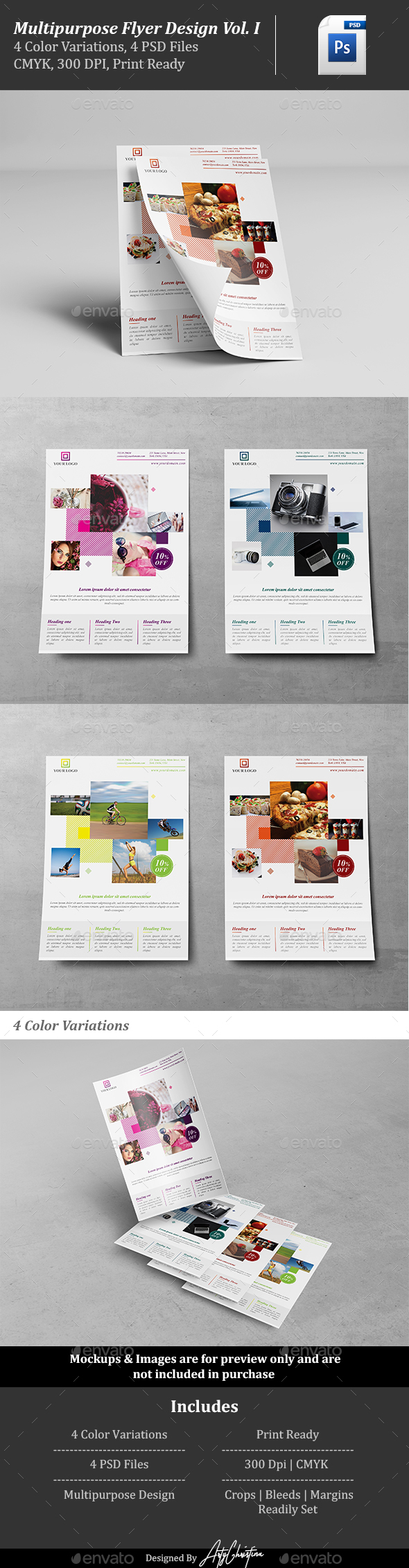 Multipurpose Flyer Design Vol. 1 - Flyers Print Templates