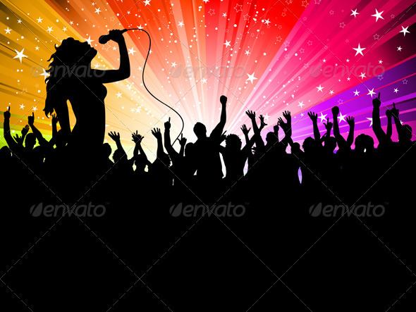 Female singer performing - People Characters