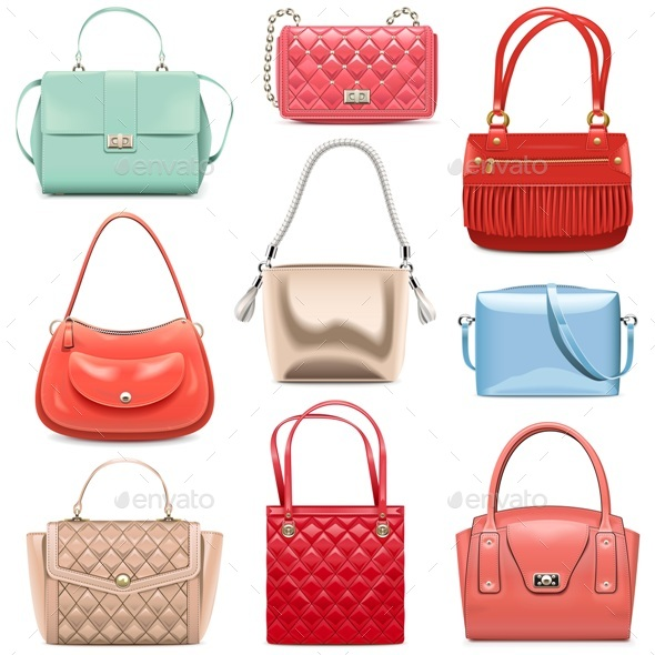 Vector Fashion Handbags - Retail Commercial / Shopping