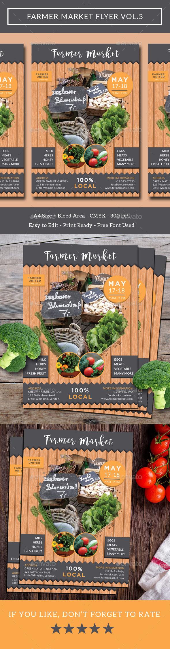 Farmer Market Flyer Vol.3 - Commerce Flyers