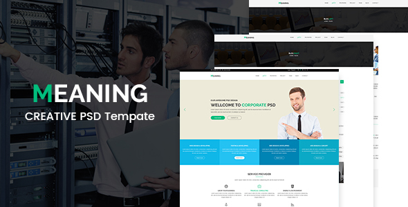 Meaning – Corporate PSD Template