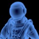 Astronaut Walking 3D Outline - VideoHive Item for Sale