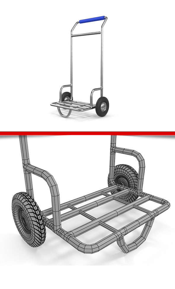 Hand Truck - 3DOcean Item for Sale