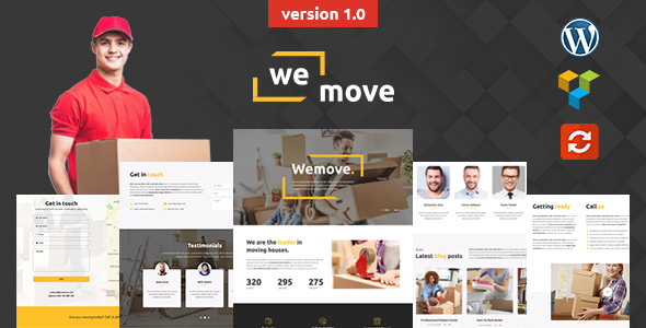 WeMove - Home Moving & Logistic WordPress Theme