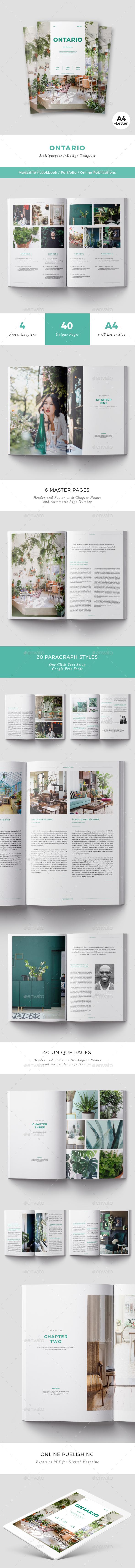 Ontario Magazine - Magazines Print Templates