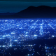 Blue City Lights 3d Scrolling Background - VideoHive Item for Sale