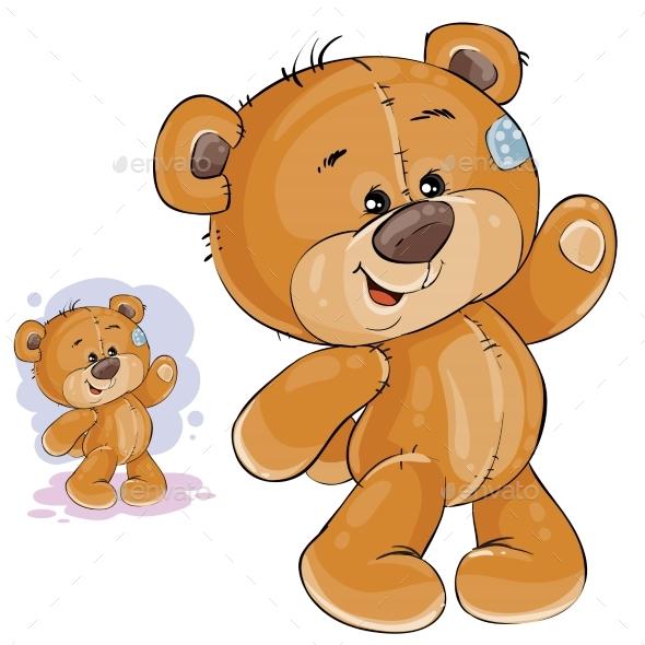 Teddy Bear Waving - Animals Characters