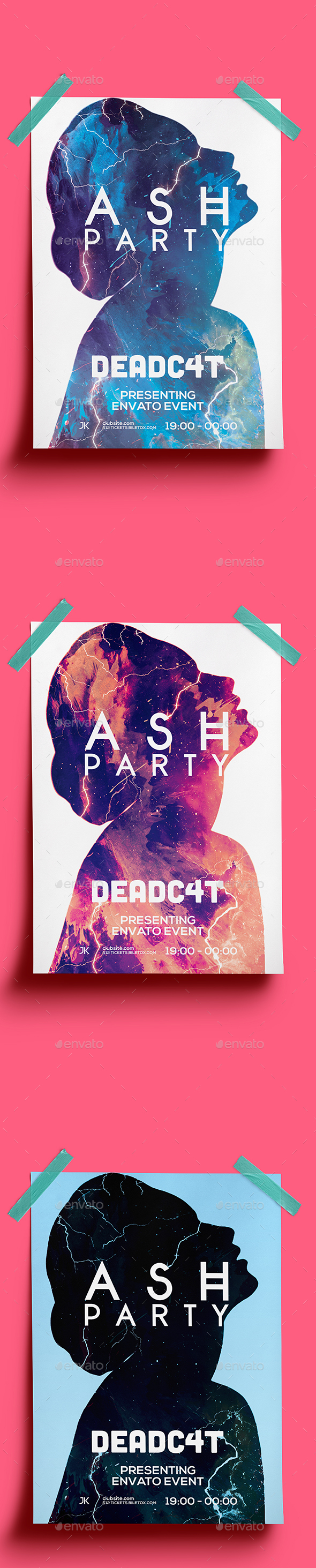 Ash Party Flyer Template - Clubs & Parties Events