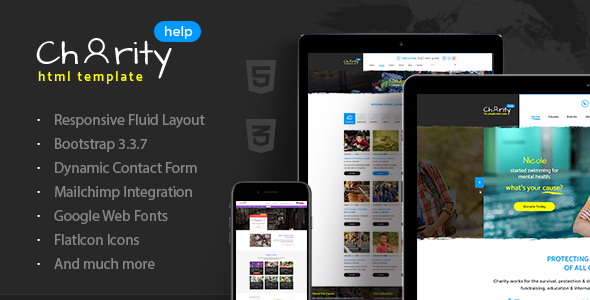 Charity Help – NGO & Charity Fundraising HTML Template