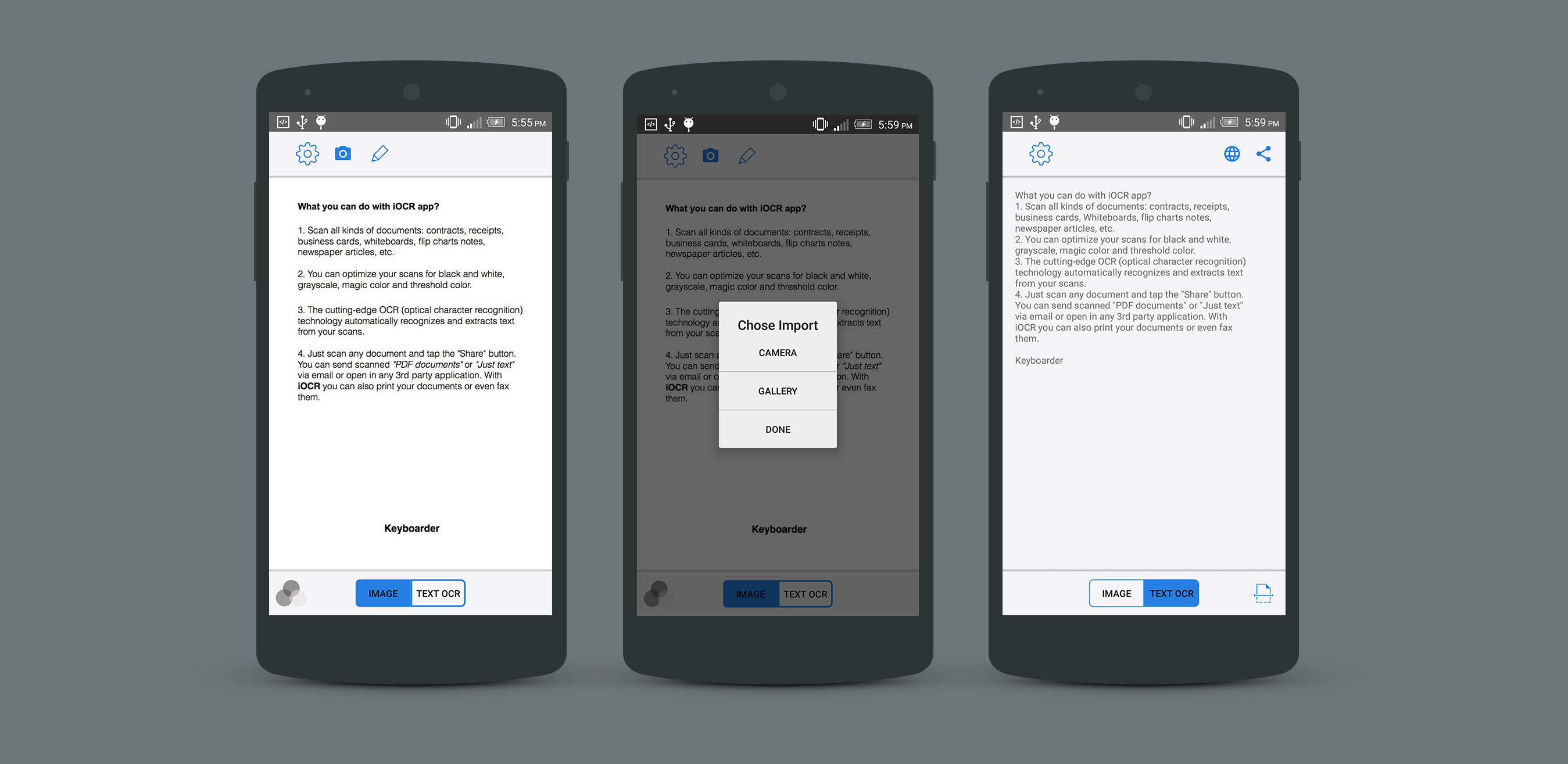 iOCR | Android Optical Character Recognition Application by