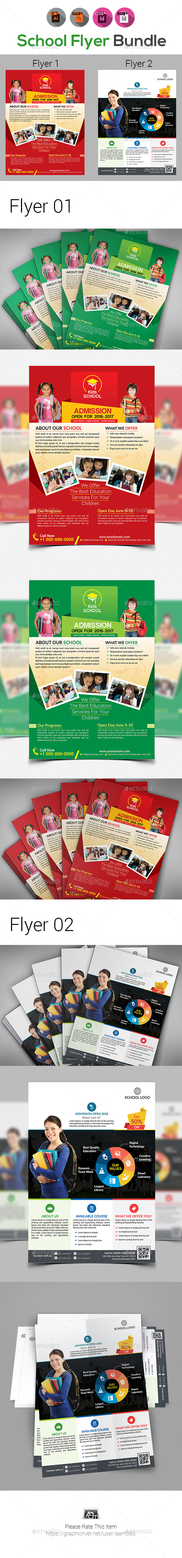 School Flyer Bundle V5 - Corporate Flyers