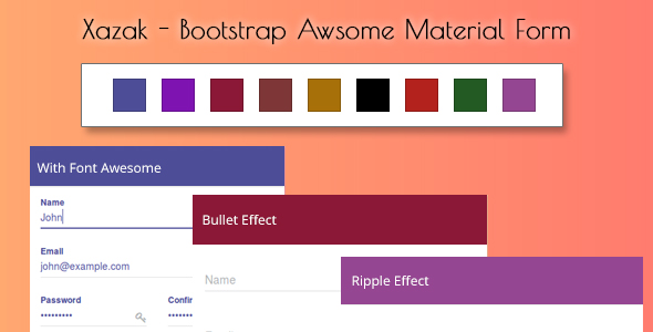 Xazak - Bootstrap Awesome Material Forms - CodeCanyon Item for Sale