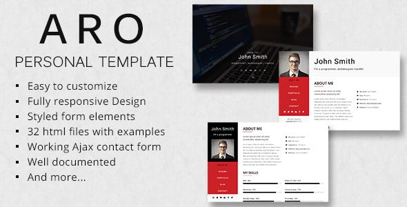 ARO – Responsive Personal Portfolio Template
