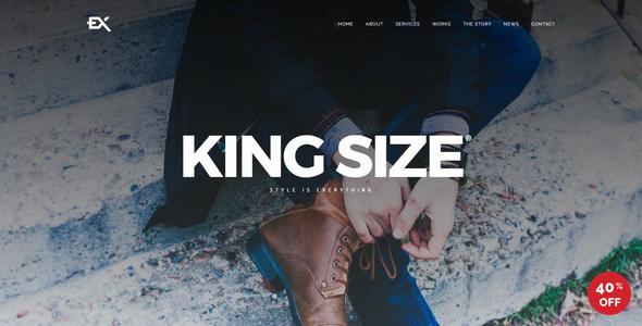 King Size || Creative Portfolio Template