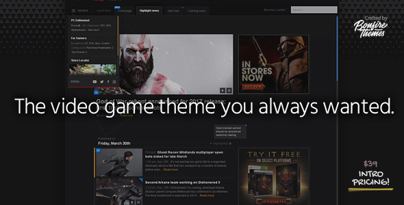 PowerUp – Video Game Theme for WordPress
