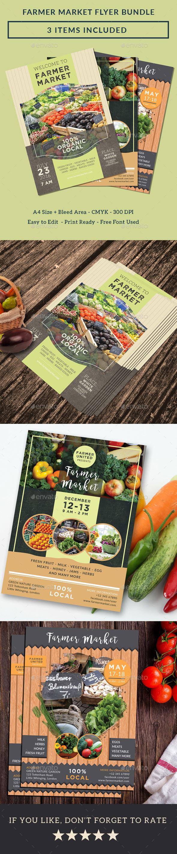 Farmer Market Flyer Bundle - Commerce Flyers
