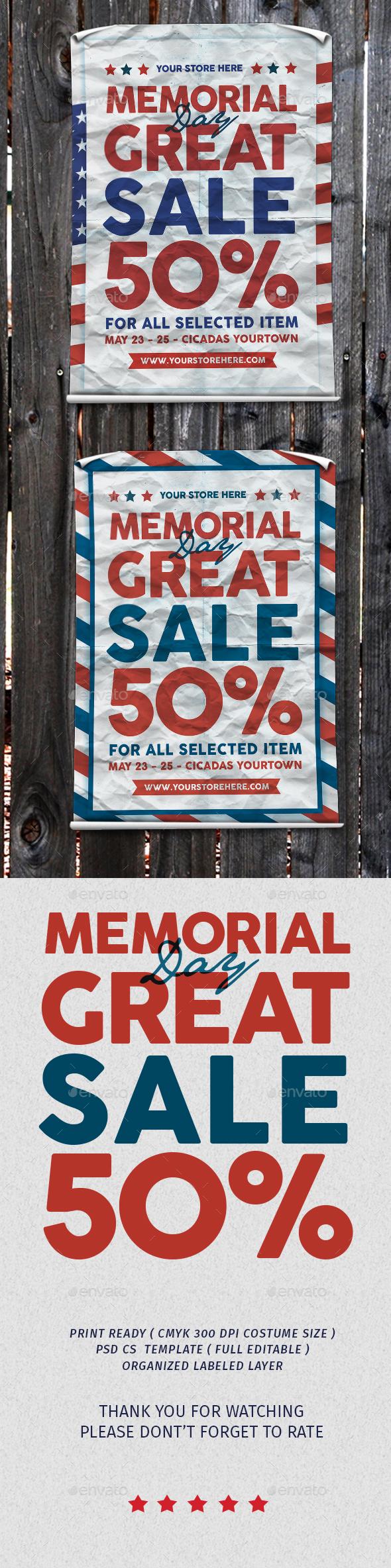 Memorial Sale - Flyers Print Templates