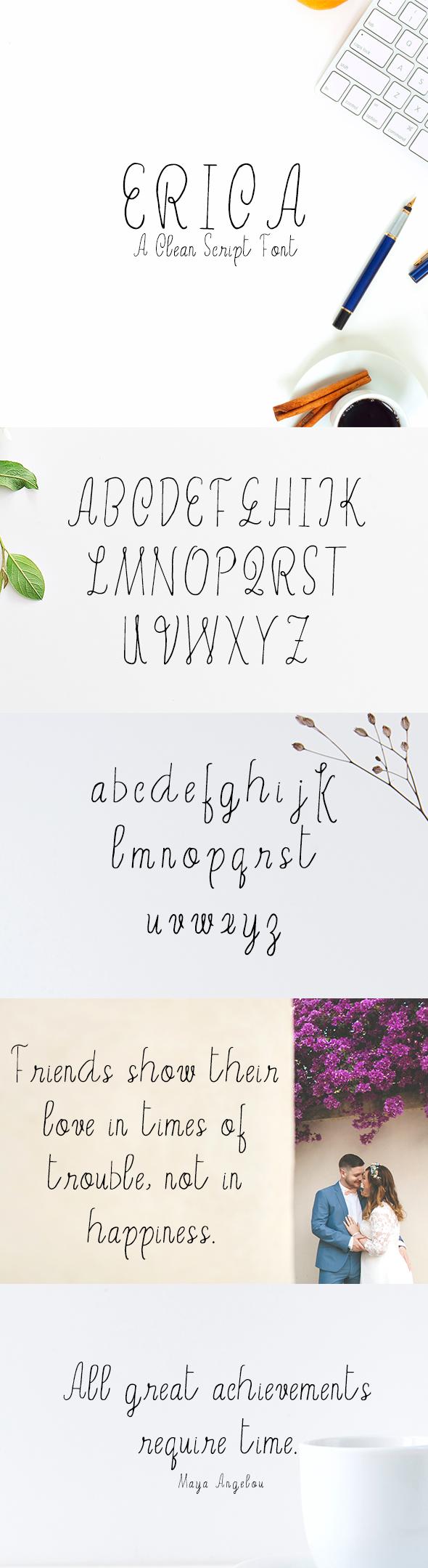 Erica Script Font - Script Fonts