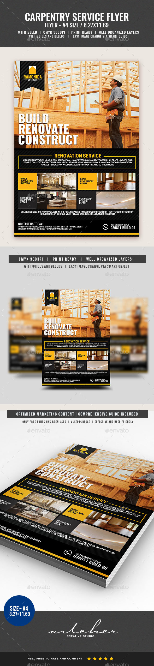 Carpentry and Building Services v2 - Corporate Flyers