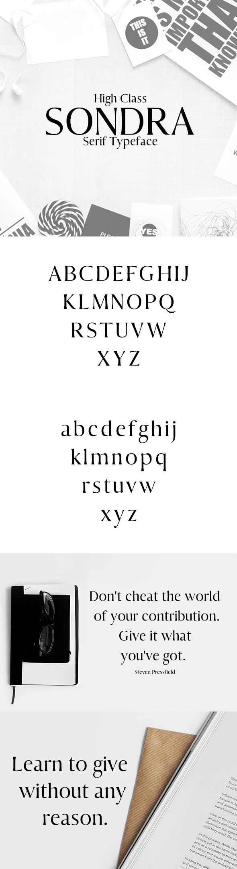 Sondra Serif Typeface - Serif Fonts