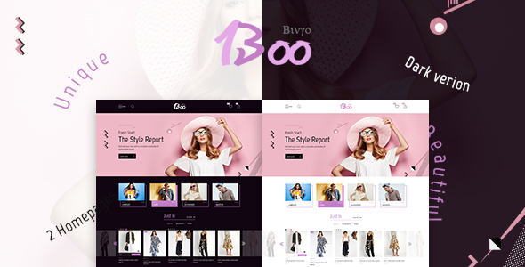BooShop – Unique Fashion PSD Template