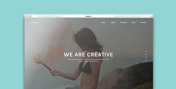 Trixter – One Page Psd Template