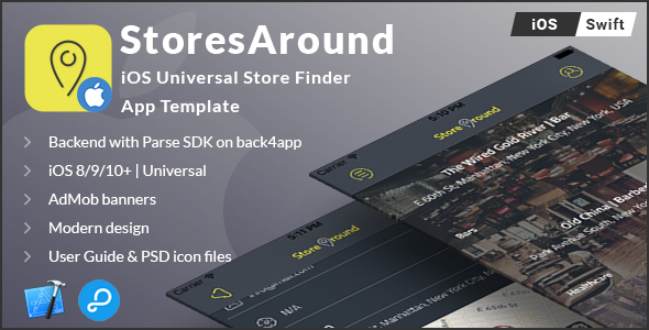StoresAround   iOS Universal Store Finder App Template (Swift) - CodeCanyon Item for Sale