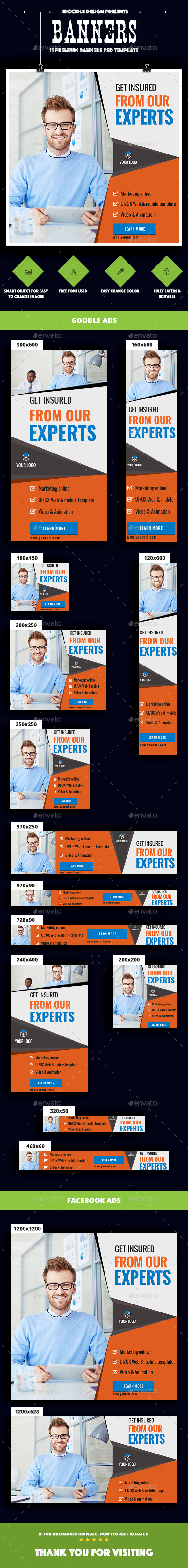 Multipurpose, Business, Corporate Banner Ad - Banners & Ads Web Elements