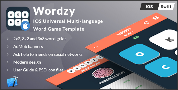 Wordzy | iOS Universal Multi-Language Word Game Template  (Swift) - CodeCanyon Item for Sale