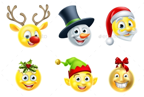 Christmas Emoji Set - Miscellaneous Characters