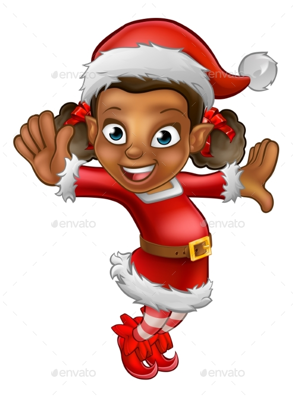 Cartoon Christmas Santa Helper Elf - Christmas Seasons/Holidays