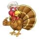 Cartoon Turkey Bird Chef Giving Thumbs Up