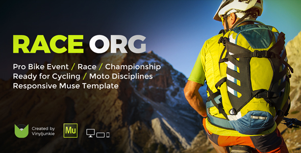 RaceOrg – Pro Cycling Mountain Bike Event / Race / Competition Muse Template