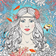 Mermaid Girl Among Corals and Fishes - GraphicRiver Item for Sale