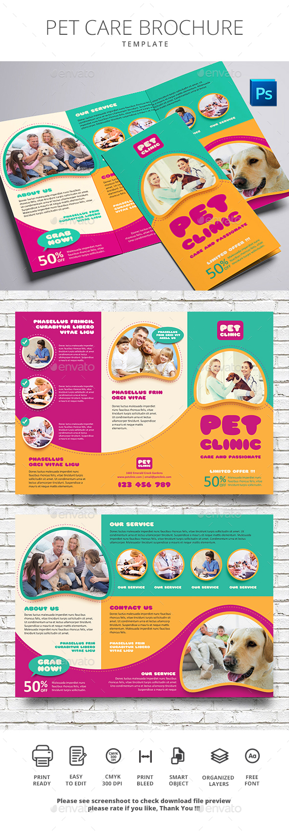 Pet Care Brochure - Brochures Print Templates