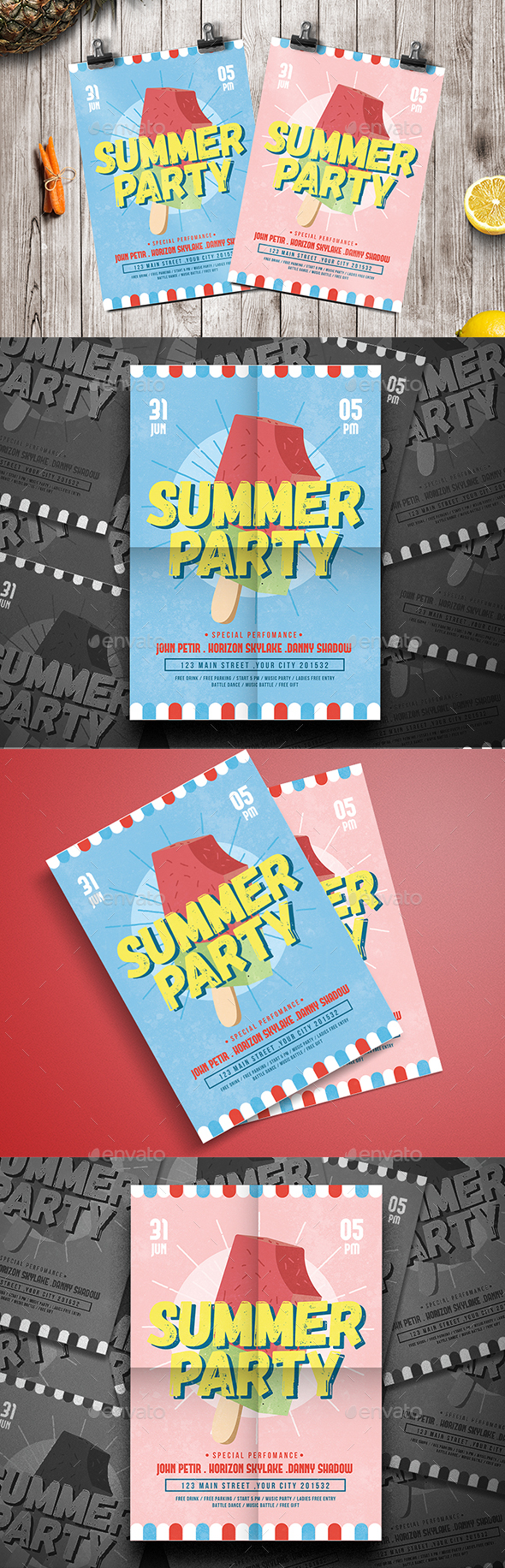 Ice Summer Flyer - Clubs & Parties Events