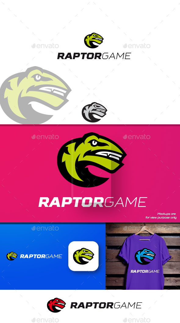 Raptorgame Logo - Animals Logo Templates